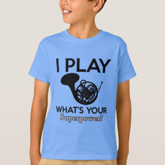 Camiseta diseños frescos del frenchorn