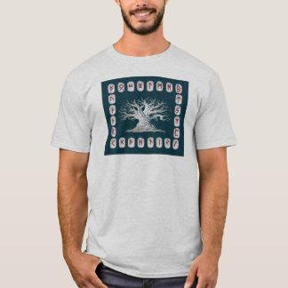Camiseta Disposición de la runa con el árbol del mundo