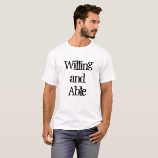 Camiseta Dispuesto y capaz