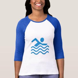 Camiseta Diversión del nadador de la nadada del éxito de la