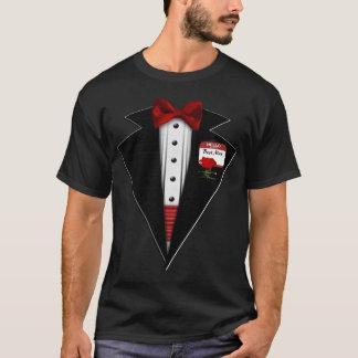 Camiseta Diversión formal del smoking negro