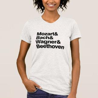Camiseta divertida de la banda de los compositores