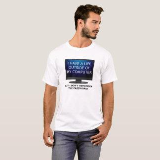 Camiseta divertida de la contraseña de la vida