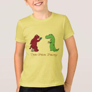 camiseta divertida de la fiesta del té de Rex del