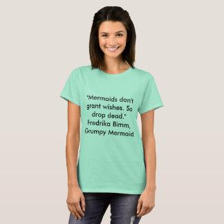 Camiseta divertida de la sirena