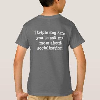 Camiseta divertida de la socialización de