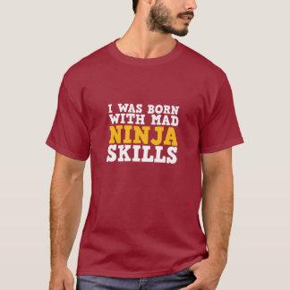 Camiseta divertida de las habilidades enojadas de