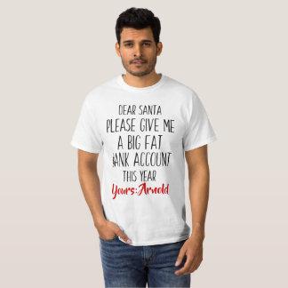 Camiseta divertida de Santa del día de fiesta del
