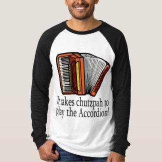 Camiseta divertida del acordeón