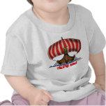 Camiseta divertida del bebé de la nave de Viking