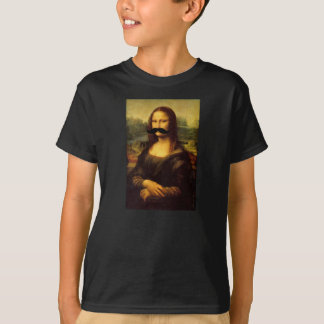 Camiseta divertida del bigote de Mona Lisa de los