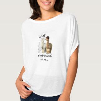 Camiseta divertida del boda de novia y del novio