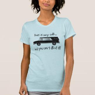 Camiseta divertida del coche fúnebre del director
