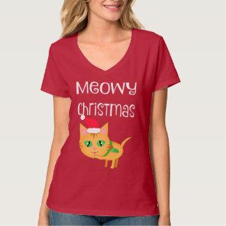 Camiseta divertida del cuello en v de los amantes