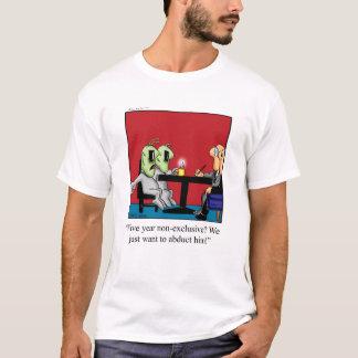 Camiseta divertida del dibujo animado del humor