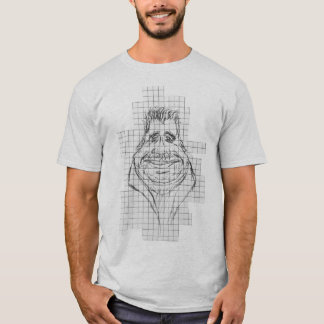 Camiseta divertida del hombre del retrato gordo