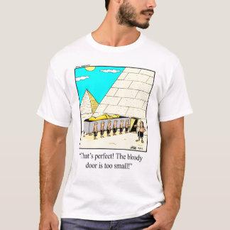 Camiseta divertida del humor de las pirámides de
