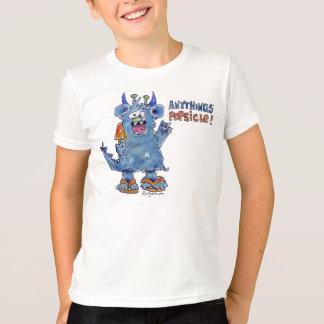 Camiseta divertida del monstruo del Popsicle de