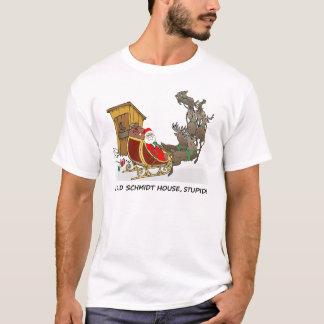 Camiseta divertida del navidad de la casa de