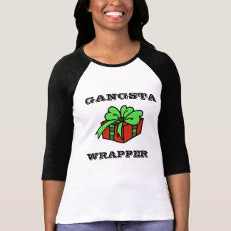Camiseta divertida del navidad de la envoltura de