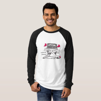 Camiseta divertida del navidad del galgo