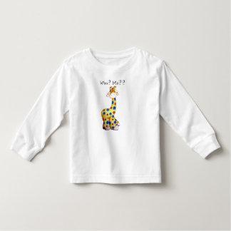 Camiseta divertida del niño de la jirafa