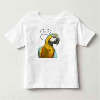 Camiseta divertida del niño del loro que habla