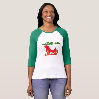 Camiseta divertida del trineo de Cuz I del