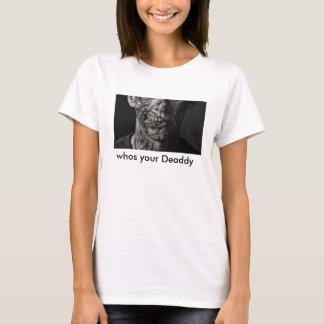 camiseta divertida del zombi