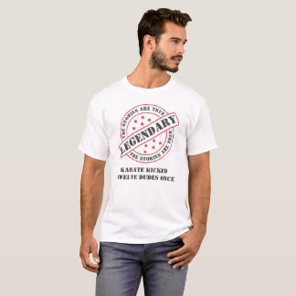 Camiseta Divertido las historias son karate verdadero