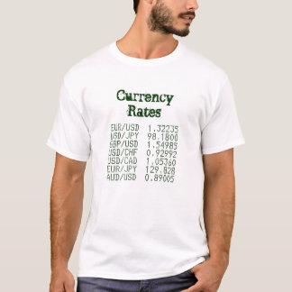 Camiseta DIVISAS: Tasas de cambio vivas
