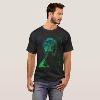 Camiseta DJ colorido, auriculares del cráneo de la