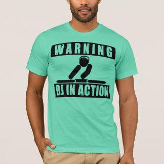 Camiseta DJ en la acción