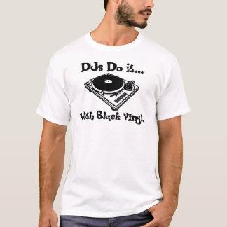 Camiseta DJs lo hace… Con el vinilo negro