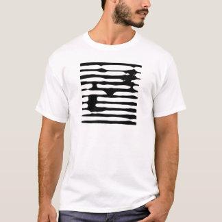 Camiseta Dogecoin monocromático rayado abstracto