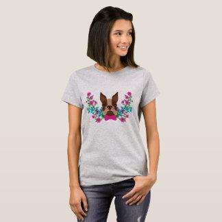 Camiseta Dogo en flores