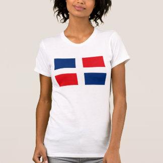Camiseta dominicana de la bandera