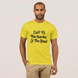 Camiseta Donald Trump es el culto 45: El número de la
