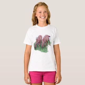 Camiseta Dos cervatillos que pastan