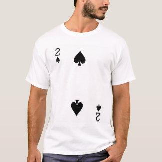 Camiseta Dos del naipe de las espadas
