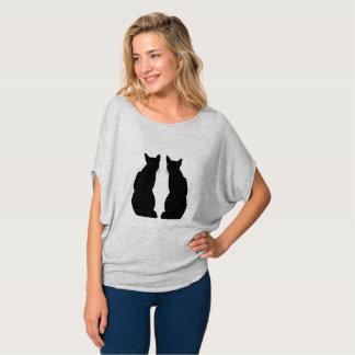 Camiseta Dos gatos sympas