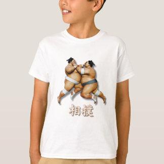Camiseta Dos luchadores del sumo con palabra del sumo en