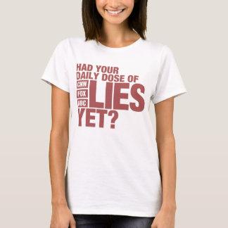 Camiseta Dosis diaria de las mentiras (medios de los