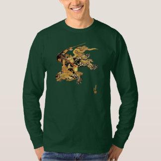 Camiseta Dragón de la onza del montar a caballo del