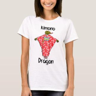 Camiseta Dragón divertido del kimono