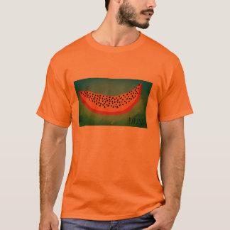 Camiseta drenaje del dibujo animado de la papaya