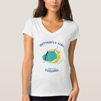 Camiseta Dressel Cozumel T-shirt Collection butterfly fish