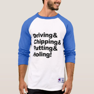Camiseta Driving&Chipping&Putting&Holing (negro)