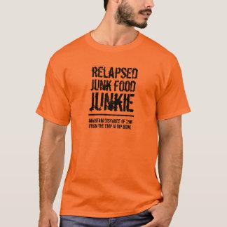 Camiseta Drogadicto recaído divertido de Junk Food
