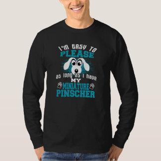 Camiseta Dueño divertido del perro del Pinscher miniatura